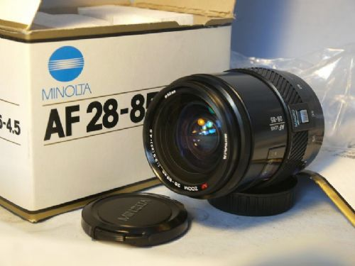 '    BEERCAN -BOXED-MINT- ' Minolta 28-85mm  Beercan Zoom Macro Lens  fits Sony Alpha -NICE SET-BOXED-MINT- £59.99